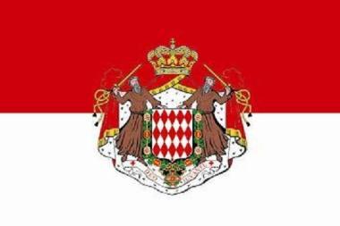 Flagge Monaco mit Wappen