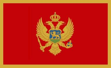 Aufkleber Montenegro 8 x 5 cm