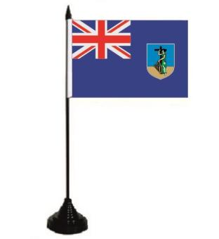 Tischflagge Montserrat 10 x 15 cm