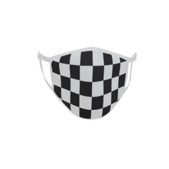 Gesichtsmaske Behelfsmaske Mundschutz Motorsport Zielflagge