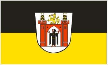 Flagge München mit großem Wappen