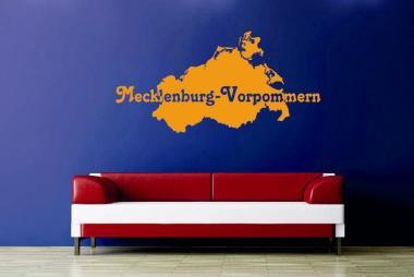Wandtattoo Mecklenburg-Vorpommern Karte