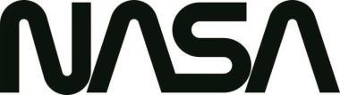 Aufkleber NASA Schriftzug schwarz