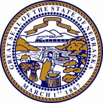 Aufkleber Nebraska Siegel Seal