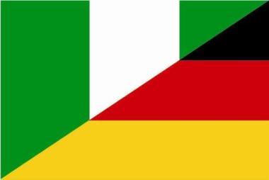 Flagge Nigeria - Deutschland