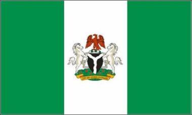 Flagge Nigeria mit Wappen