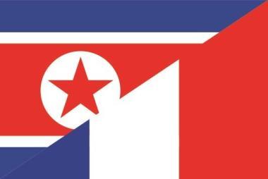 Flagge Nord Korea - Frankreich