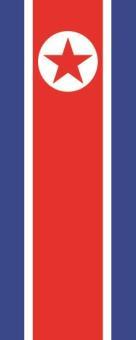 Flagge Nord Korea im Hochformat