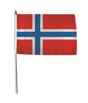 Stockflagge Norwegen 30 x 45 cm