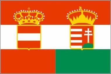 Aufkleber Österreich-Ungarn Handelsflagge