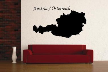 Wandtattoo Österreich Karte