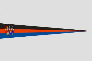 Wimpel Ostfriesland mit Prachtwappen 140 x 27 cm