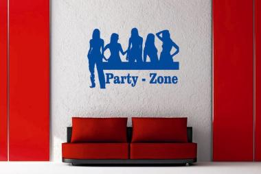 Wandtattoo Party-Zone