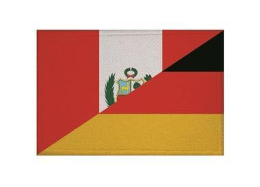 Aufnäher Patch Peru - Deutschland 9 x 6 cm