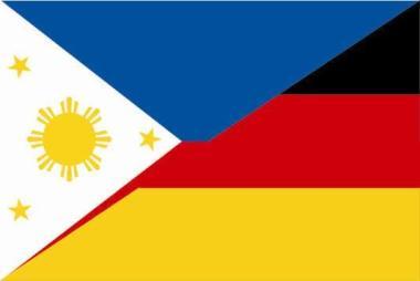 Aufkleber Philippinen-Deutschland