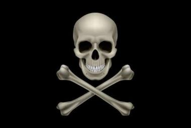 Aufkleber Pirat Cross Bone