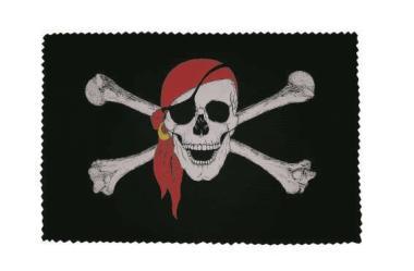 Glasreinigungstuch Pirat mit rotem Kopftuch