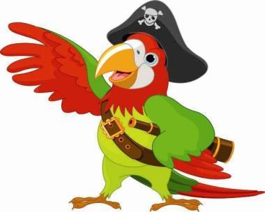 Aufkleber Piraten Papagei