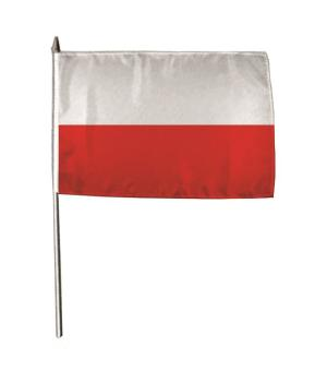 Stockflagge Polen 30 x 45 cm