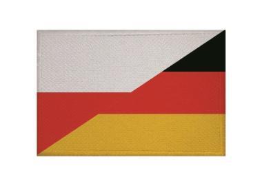 Aufnäher Patch Polen - Deutschland 9 x 6 cm