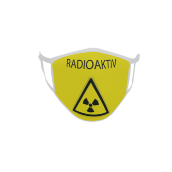 Gesichtsmaske Behelfsmaske Mundschutz Radioaktiv