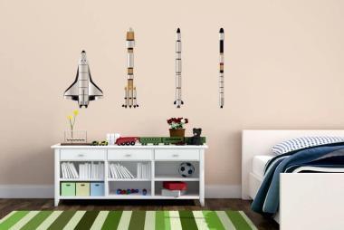 Wandtattoo Raketen-Set 2
