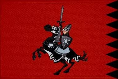 Aufnäher Patch Ritter Motiv Nr. 6  9 x 6 cm