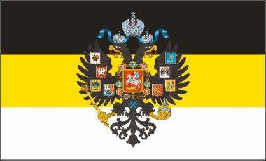 Flagge Russland Romanov mit Adler