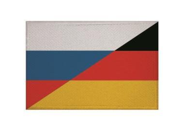 Aufnäher Patch Russland - Deutschland 9 x 6 cm