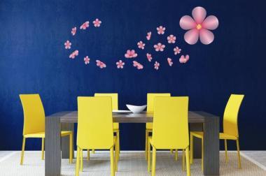 Wandtattoo Sakura Kirschblüten