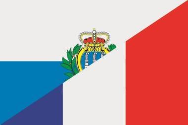Aufkleber San Marino-Frankreich
