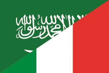 Flagge Saudi Arabien - Italien