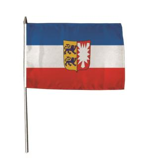 Stockflagge Schleswig-Holstein 30 x 45 cm