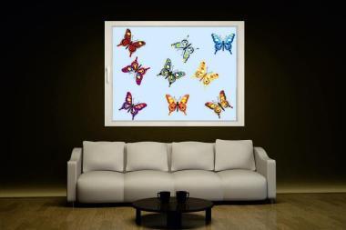 Fenstertattoo Schmetterlings-Set