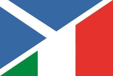 Flagge Schottland - Italien