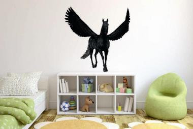 Wandtattoo Schwarzer Pegasus