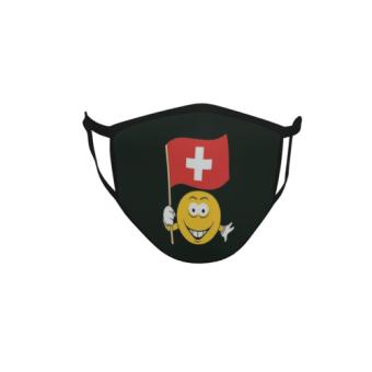 Gesichtsmaske Behelfsmaske Mundschutz schwarz Schweiz Smily