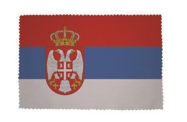 Glasreinigungstuch Serbien mit Wappen