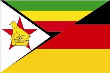 Flagge Simbabwe - Deutschland