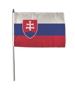 Stockflagge Slowakei 30 x 45 cm