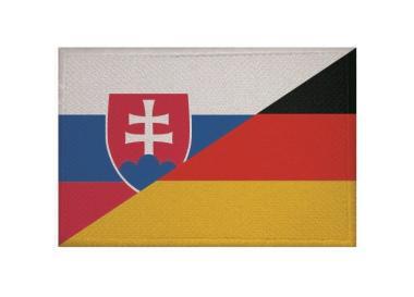 Aufnäher Slowakei-Deutschland Patch 9 x 6 cm