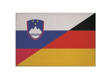 Aufnäher Slowenien-Deutschland Patch 9 x 6 cm