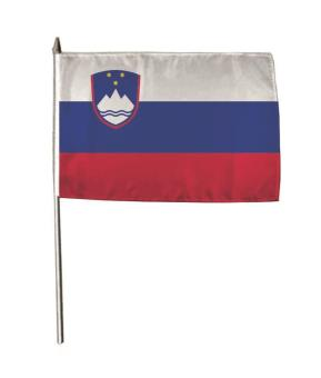 Stockflagge Slowenien 30 x 45 cm