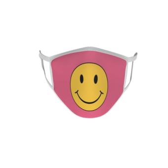 Gesichtsmaske Behelfsmaske Mundschutz Smily Rosa