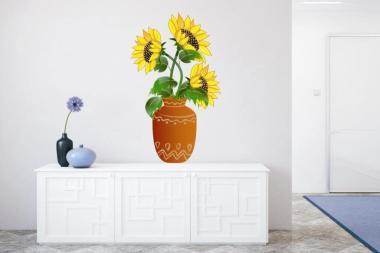 Wandtattoo Sonnenblume in Vase