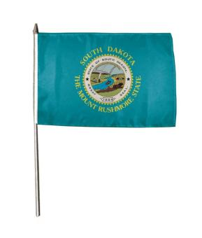 Stockflagge South Dakota 30 x 45 cm