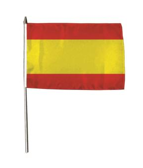 Stockflagge Spanien ohne Wappen 30 x 45 cm