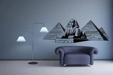 Wandtattoo Sphinx mit Pyramiden