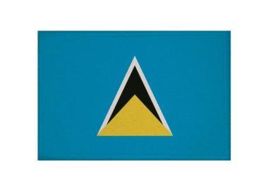 Aufnäher Patch St. Lucia 9 x 6 cm