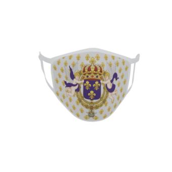 Gesichtsmaske Behelfsmaske Mundschutz Standarte königliches Frankreich
